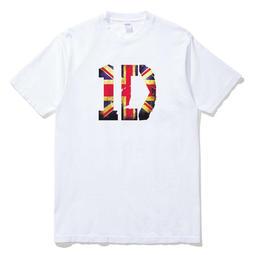 ONE DIRECTION-England 短袖T恤 白色1D 一世代英國國旗樂團音樂街頭滑板