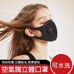 立體防塵霾海棉空氣閥防護口罩_透氣眼鏡不起霧★可水洗 修飾臉型★玩聚家