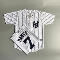 【冰球服】揚基NY棒球服短袖開衫男寬松大碼條紋T恤bf街舞嘻哈數字球衣女夏