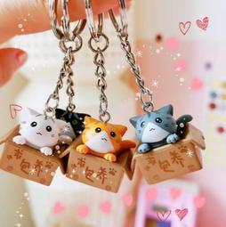 貓咪鑰匙圈 可愛動物吊飾 貓鑰匙圈 貓吊飾 萌萌貓求包養