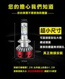 【美國科瑞XHP-50燈珠】360度可調光形 保固1年H4 H7 H11 9006 9012  LED大燈