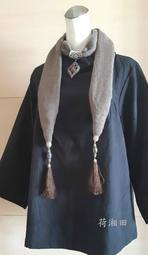 【荷湘田】圍巾--復古民族風飾品裝飾隨意百搭流蘇圍巾