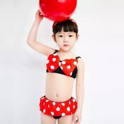 可愛蝴蝶結寶寶比基尼女童泳衣