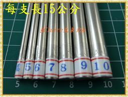 §Claire克萊兒§長15cm不鏽鋼繞線棒組4~10mm/白鐵繞線棒/C圈棒/捲線棒/線圈棒/白鐵棒/不锈鋼棒