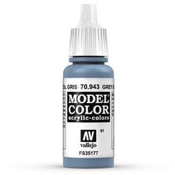 ㊣ AV Vallejo 灰藍色 Grey Blue 以色列藍IDF戰機模型漆水性漆壓克力顏料Acrylic 70943