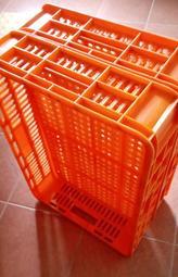置物籃置物箱 物流籃搬運箱 貨物籃塑膠籃 可疊式 2手良品