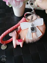豹紋毛球 緞花 流蘇吊飾 包包掛飾 飾品 配件 生日 送禮