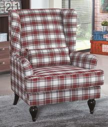 【南洋風休閒傢俱】時尚造型沙發系列-喬治安娜鄉村格紋主人椅 JX202-8