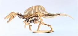 雷雕木質 立體3D拼圖DIY模型 擺飾 禮品 裝飾 侏儸紀 恐龍 棘龍2.0