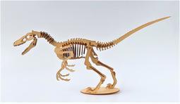 雷雕木質 立體3D拼圖DIY模型 擺飾 禮品 裝飾  侏儸紀 恐龍 迅猛龍2.0
