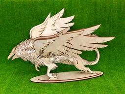雷雕木質 立體3D拼圖DIY模型 擺飾 禮品 裝飾 幻想 幻獸 傳說 格里芬 獅鷲