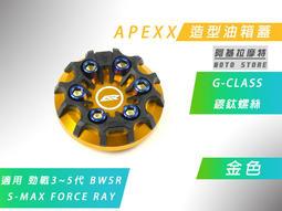 附發票 APEXX 金色 G-CLASS 油箱蓋 造型 油桶蓋 三代戰 四代戰 五代戰 BWSR SMAX FORCE