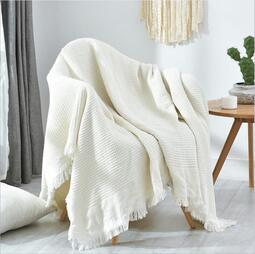 現貨 yo ki北歐簡約沙發布單全蓋純色沙發巾ins小清新罩布沙發套蓋布沙發墊