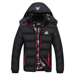 L-6XL 愛迪達 adidas 三葉草棉衣 阿迪外套 外套 純棉外套 保暖外套 運動外套 加厚連帽外套8861