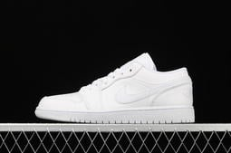 Nike Air Jordan 1 Low AJ1 經典 實戰 低筒 籃球鞋 男女鞋 全白 553558-112