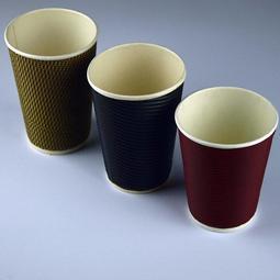 紅色480ml一次性紙杯批發 奶茶紙杯咖啡打包杯外帶杯50只特厚