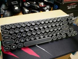 【本店吳銘】 雷斯特 Lexking LKB-7130 迷你機械式復古打字機鍵盤 假掰 文青風 復古鍵盤 青軸 耀眼黑