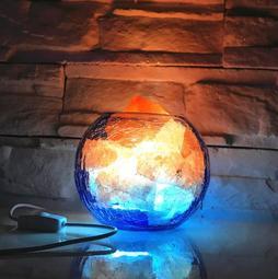 冰與火天然喜馬拉雅水晶鹽燈 負離子 風水燈 創意調光小夜燈 臥室床頭裝飾燈9342