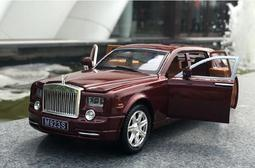 汽車模型原廠 1:24 合金車模仿真勞斯萊斯幻影六開門小汽車模型男孩玩具—MONA