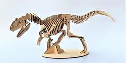 雷雕木質 立體3D拼圖DIY模型 擺飾 禮品 裝飾 侏儸紀 恐龍 異特龍2.0