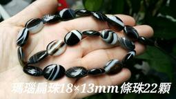 瑪瑙扁珠18×13mm條珠22顆