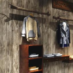 壁紙熱銷 復古懷舊墻紙仿木板木頭紋理中式時尚店鋪裝修女裝服裝店木紋壁紙 BJ-114