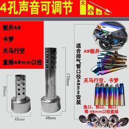 踏板車排氣管消音器鬼火靜音A8摩托車改裝排氣管板井消音塞新品
