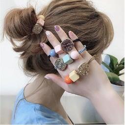 【現貨】韓國ins風糖果色可愛少女水晶髮圈 (丸子頭彈力髮圈.髮繩) / OS2-002