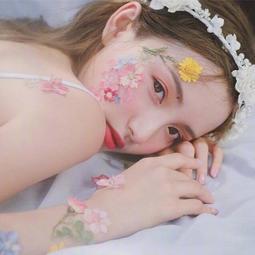 林小宅同款臉部貼花化妝干花貼臉飾品花瓣妝容拍照寫真臉部仙女妝