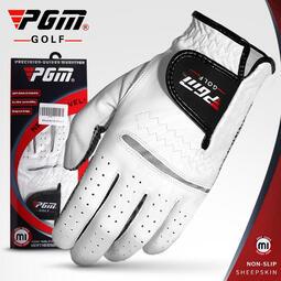 高爾夫球手套 男士真皮 小羊皮手套 魔術貼防滑golf手套 單只