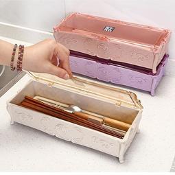 雙12鉅惠 一件8折-麥秸稈環保筷子盒 家用 帶蓋瀝水筷子盒子餐具收納筷子筒筷子籠桶【免運】