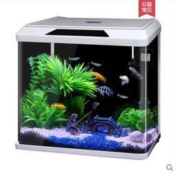 橘家*水族箱 客廳 熱帶魚 金魚缸 高清玻璃 靜音 迷妳小型水箱