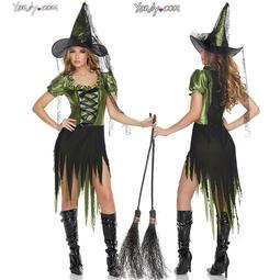 現貨尾牙服裝cosplay成人女巫披風彩金斗篷演出服化妝舞會女巫衣服