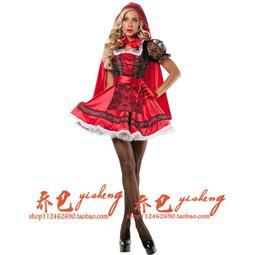 現貨成人兒童女小紅帽表演出服 公主裙小紅帽衣服尾牙化妝舞會cos服