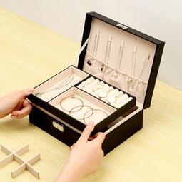 珠寶首飾收納盒    耳環項鏈收納盒   首飾盒   大容量簡約   耳飾品  耳墜整理盒家用